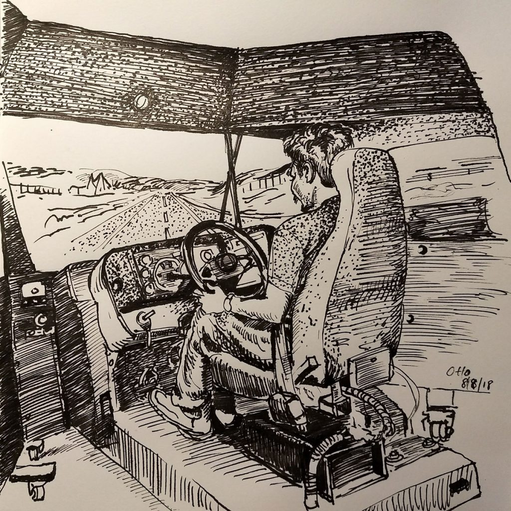 Simulator Practice Ink Drawing