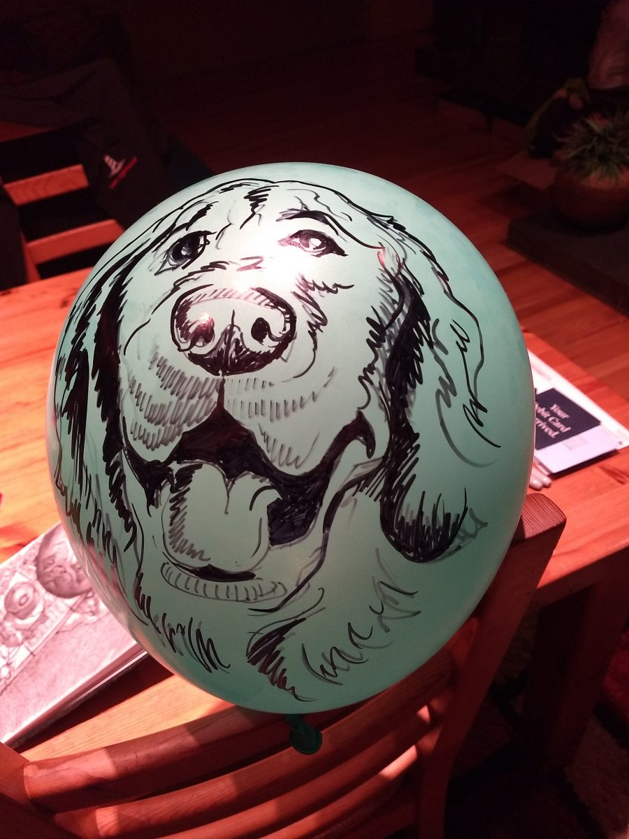 Drawing on Balloon