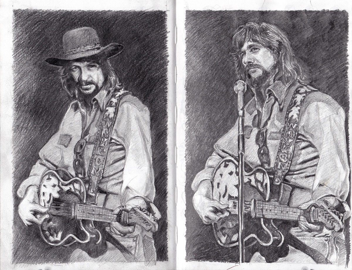 Waylon Drawings - Different heads